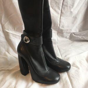 Prada Mid Calf height High Heeled Boots